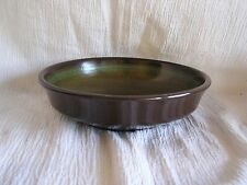 Vintage Franciscan Madeira USA Green Tan Floral Scroll Soup Cereal Bowl Retro