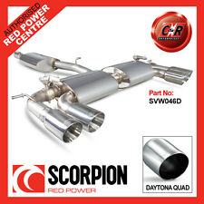 VW Mk7 Golf R 13on Scorpion Exhaust Cat-Back Resonated Quad 90mm Daytona SVW046D