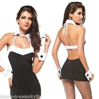 Ladies Sexy Mafia 1920s 20s Gangster Gangsta Moll Fancy Dress Costume Outfit