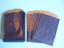 25 Flachbeutel Papiertüten kräftiges Papier bunt blau 7 x 12 cm NEU