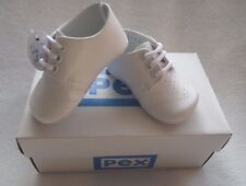 "White Romany Spanish Style  Leather Pram Shoes ""Edward"" by Pex 6-12 months / 16"