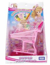 Takara Tomy Japan Licca Chan Supermarket Grocery Shopping Cart Doll Accessories
