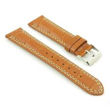 DASSARI President Croc Embossed Leather Watch Band Strap for Jaeger-LeCoultre