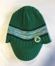 Boston Celtics Knit Beanie Toque Skull Cap Winter Hat NEW NBA Green Visor Brim