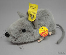 Steiff Fiep Mouse Grey Woven Fur Plush 10cm 4in ID Button Tags 1976 -90 Vintage