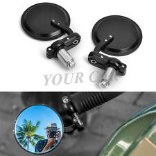 "Motorcycle 3"" Round 7/8"" Handle Bar End Convex Mirrors For HONDA GROM 125 MSX125"