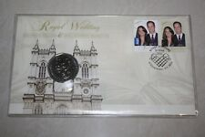 (PL) 2011 AUSTRALIA ROYAL WEDDING 50C UNC COIN - PNC STAMP & COVER MINT RAM