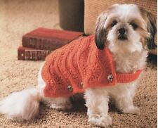 Knitting Pattern For A Cute & Cuddly Lace Knit Dog Coat Easy To Make DK