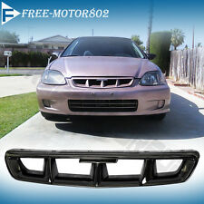 FOR 96-98 HONDA CIVIC FRONT HOOD GRILL GRILLE MUGEN STYLE ABS BLACK