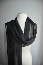 BNWT(NEW BOND STREET)-    BLACK CHIFON SCARF/SHAWL/STOLE