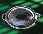 Vintage Rogers & Bro 1780 Silverplate Oval Tray With Handles