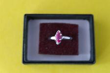 925 Anello Argento con MARQUISE NATURALE ROSA touramaline 1,56 Carati Dimensione N 1 \ 2