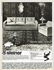 PUBLICITE ADVERTISING 114  1964  STEINER   sièges fauteuils canapés