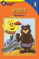 French Homework Booklet, Elementary, Level 1 (Homework Booklets) (English and Fr