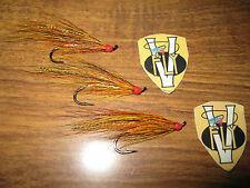 3 V Fly Size 10 Signature Gold Willie Gunn Single Hook Salmon Flies