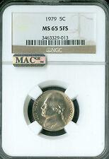 1979 JEFFERSON NICKEL NGC MAC MS65 FS 2ND FINEST REGISTRY POP-2  ONLY 2 FINER *