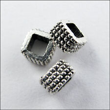 20 New Charms Tibetan Silver Tone Square Spacer Beads 7mm