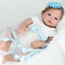 "Lifelike Reborn Baby Full Body Girls Doll 22"" Vinyl Silicone Kids Gift Handmade"