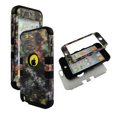 Hybrid Tuff Fallen Camo  Blk Strip For  Apple Ipod Touch 5 5th Gen  Case Cover