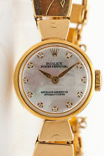 Vintage 1950s $10,000 MOP Diamond Genuine ROLEX 14k Yellow Gold Ladies Watch WTY