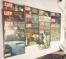 Lot of 14 LIFE MAGAZINE Vintage 1960's MOON SPACE APOLLO ASTRONAUTS More!