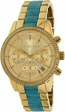 Michael Kors Women's Ritz MK6328 Gold Stainless-Steel Quartz Watch