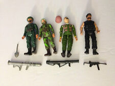 Vintage Remco 1981 SGT. Rock Actoin Figures Lot of 4 w weapons DC comics RARE!