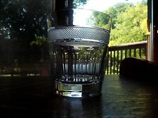 RARE Double Old Fashioned Tumbler Glass Miller Rogaska Palladio Lead Crystal