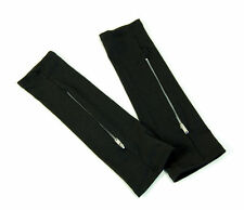 Noir zipper glovelets gants 1980's gothique punk Accessoires Costume Halloween