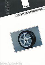 Bild-Prospekt Felge TechArt Exclusivprogramm Porsche 1994 Auto PKWs int. Nr. 18