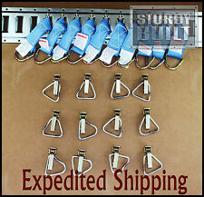 22pcs 10x E Track Tie Off & 12x D Ring Truck f Cargo Van Trailer Tie Off Ratchet