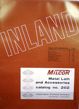 MILCOR Inland Steel Products ASBESTOS Fireproofing Lath Plaster Vermiculite 1963