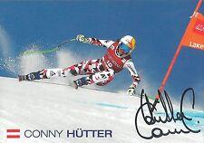 Autogramm Conny Cornelia Hütter Österreich Ski alpine, original signiert