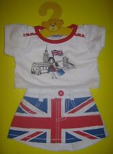 BUILD-A-BEAR UK Exclusive UNION JACK SKIRT OUTFIT England London