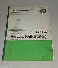 Teilekatalog / Ersatzteilliste Mofa Puch X30-A Stand 01/1975