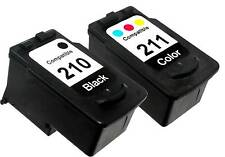 2 PK INK CARTRIDGE FOR CANON PG-210 CL-211 PG210 CL211 PIXMA MP495 MX360 MX410