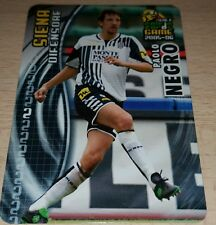 CARD CALCIATORI PANINI 2005-06 SIENA NEGRO CALCIO FOOTBALL SOCCER ALBUM