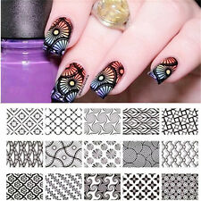 Nagel Schablone Nail Art Stamp Stamping Template Plates BORN PRETTY L003