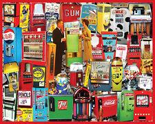 White Mountain Puzzles Vending Machine Nostalgic Collage - 1000 Pc Jigsaw Puzzle