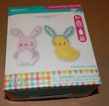 Easter Kids Crafts Foam Shapes & Stickers Group Kit 181pc Makes 20 Rabbits 107W