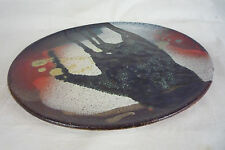 "11"" Studio Art Pottery Abstract New Wave Plate Wall Plaque - Marked DANTCHO B"