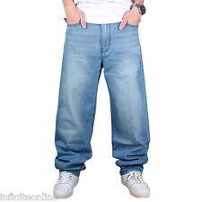 Men's Jeans Pants Baggy Loose Fit Denim Hip-Hop Rap Skateboard Cargo Trousers