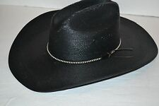 Resistol Men's Jason Aldean Asphalt Cowboy MEXICAN Palm STRAW BLACK Hat SZ 7 3/8