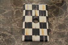 Coaxial Cable Audio Switch Plate made w/Mackenzie Childs Courtly Check Tissue