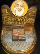 Vintage Ever-Ready Safety Razor Kit Display Case 1914 Patent Very Rare!