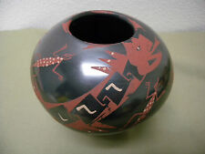 Hand Painted Art Pottery Earthenware Jar Artist Signed Vera Central America