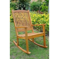 International Caravan Acacia Large Rocking Chair, Brown