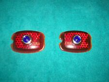 1937 - 1938 Tail Lamp Lens With Blue Dot Chevy Street Rod Hot Rod