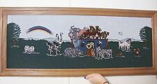 Noah's Ark Custom Framed Tapestry Wall Hanging Picture 42 x 17