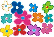 Blumen Aufkleber Hippie Blumen Auto Aufkleber: Mini 11 - 51 Stk. - bunt gemischt